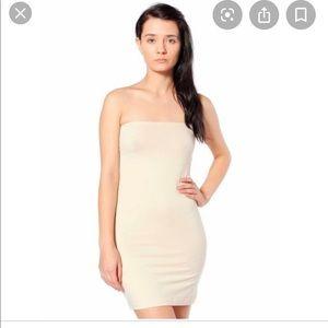•AMERICAN APPAREL• Nude Strapless Tube Dress M